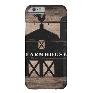 Capa Barely There Para iPhone 6 Casa da quinta preta de madeira resistida rústica