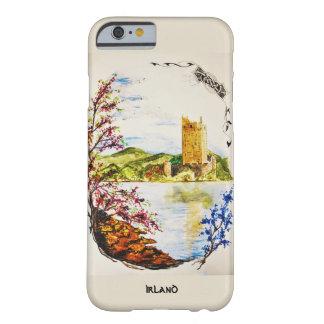 Capa Barely There Para iPhone 6 casco aguarela Castelo arruina a Irlanda