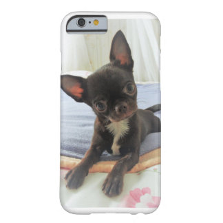 Capa Barely There Para iPhone 6 casco telefona branco chihuahua castanho retrato