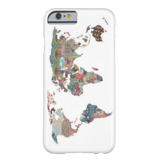 Capa Barely There Para iPhone 6 Case iPhone 6 - Mapa Mundi