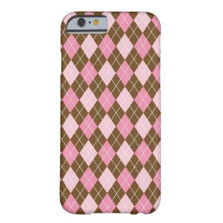 Capa Barely There Para iPhone 6 Caso cor-de-rosa do iPhone 6/6s de Argyle