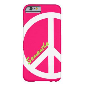Capa Barely There Para iPhone 6 Caso cor-de-rosa do iPhone 6 do sinal de paz