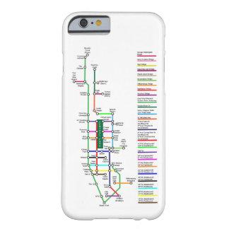 Capa Barely There Para iPhone 6 Caso de Smartphone do mapa da bicicleta da Nova