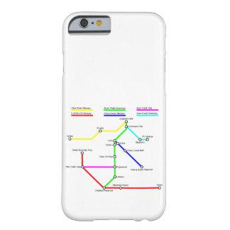 Capa Barely There Para iPhone 6 Caso de Smartphone do mapa da bicicleta de Denver