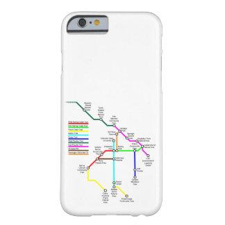Capa Barely There Para iPhone 6 Caso de Smartphone do mapa da bicicleta de Fort