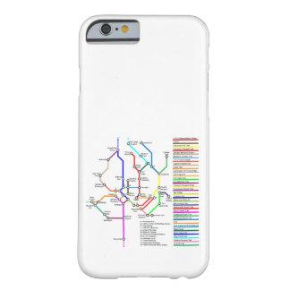 Capa Barely There Para iPhone 6 Caso de Smartphone do mapa da bicicleta do