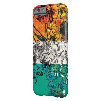 Capa Barely There Para iPhone 6 Caso do bloco da cor de desenho da flor