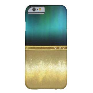 Capa Barely There Para iPhone 6 Caso do design do ouro da faísca da aguarela do
