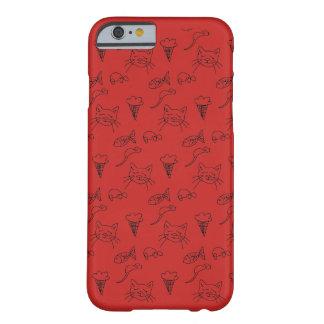 Capa Barely There Para iPhone 6 caso do iphone 5s com esboço do gato.