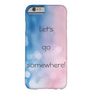 Capa Barely There Para iPhone 6 caso do iPhone 6/6s com bokeh e texto coloridos