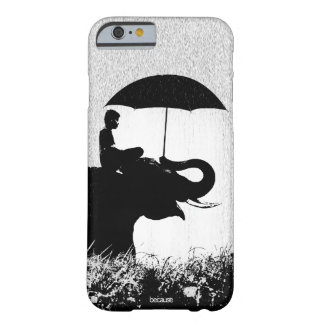 Capa Barely There Para iPhone 6 Caso do iPhone 6/6s da arte da chuva do elefante