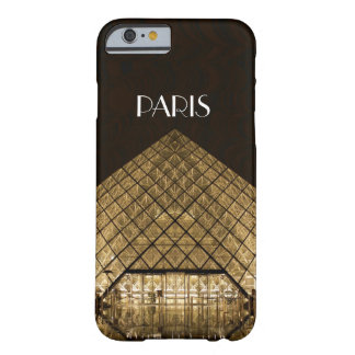Capa Barely There Para iPhone 6 Caso do iPhone 6/6S da pirâmide do Louvre mal lá