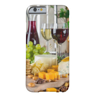 Capa Barely There Para iPhone 6 Caso do iPhone 6/6s do vinho & do queijo de fruta