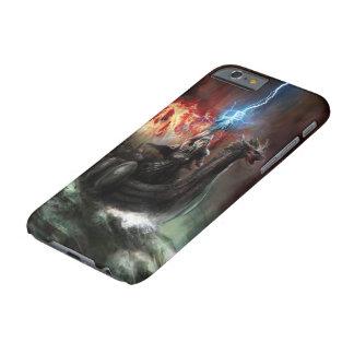 Capa Barely There Para iPhone 6 Caso do iPhone 6 do navio de Viking do dragão mal
