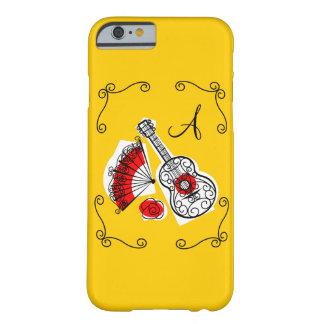 Capa Barely There Para iPhone 6 Caso espanhol do iPhone 6 do monograma dos cantos