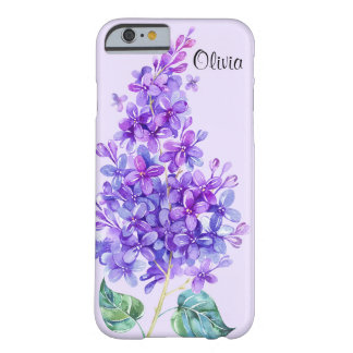 Capa Barely There Para iPhone 6 Caso floral do iPhone 6 do Lilac roxo colorido do