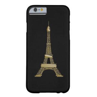 Capa Barely There Para iPhone 6 Caso francês do iPhone 6 da torre Eiffel do preto