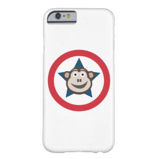 Capa Barely There Para iPhone 6 Caso gráfico de IPhone 6/6S do macaco super mal lá