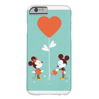 Capa Barely There Para iPhone 6 Caso macio do amor do espaço livre da aguarela de