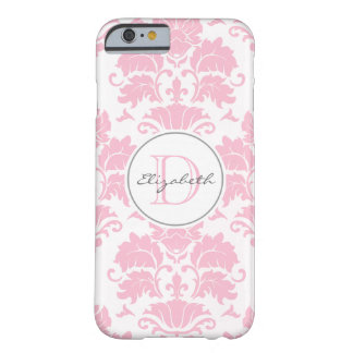 Capa Barely There Para iPhone 6 Caso Monogrammed do iPhone 6 do damasco