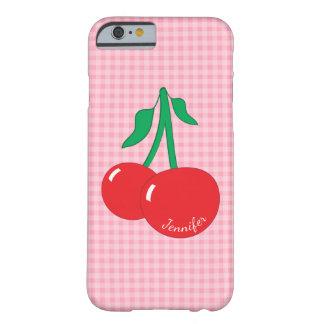Capa Barely There Para iPhone 6 Caso retro do iPhone 6/6S do guingão das cerejas