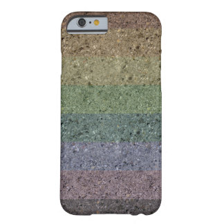 Capa Barely There Para iPhone 6 Caso revestido concreto do iPhone 6 do arco-íris