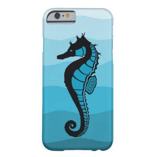 Capa Barely There Para iPhone 6 Cavalo de mar, ondas do Aqua, impressão azul de