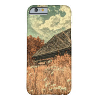 Capa Barely There Para iPhone 6 celeiro velho da fazenda do wildflower do campo do