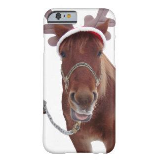 Capa Barely There Para iPhone 6 Cervos do cavalo - cavalo do Natal - cavalo
