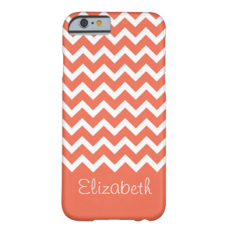 Capa Barely There Para iPhone 6 Chevron coral