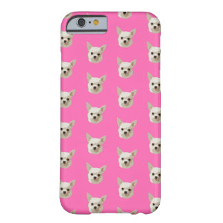 Capa Barely There Para iPhone 6 Chihuahua cor-de-rosa