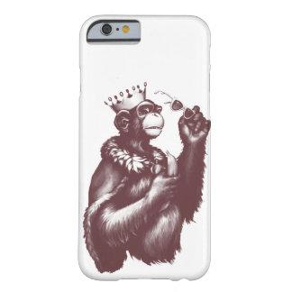 Capa Barely There Para iPhone 6 Chimpin grande (monocromático)