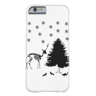 Capa Barely There Para iPhone 6 Chipmunk dos pombos da neve da árvore dos cervos