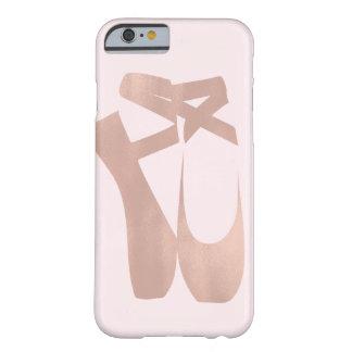 Capa Barely There Para iPhone 6 Chique cor-de-rosa do ouro da bailarina