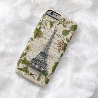 Capa Barely There Para iPhone 6 chique feminino bonito eu amo a torre Eiffel de