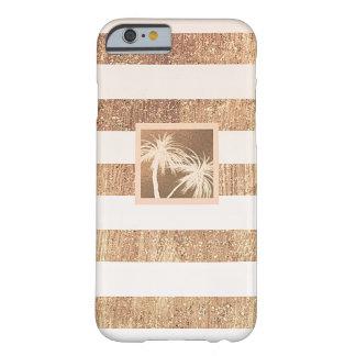 Capa Barely There Para iPhone 6 Chique moderno das palmeiras tropicais do cobre &