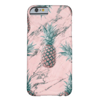 Capa Barely There Para iPhone 6 Chique tropical moderno do abacaxi & do redemoinho