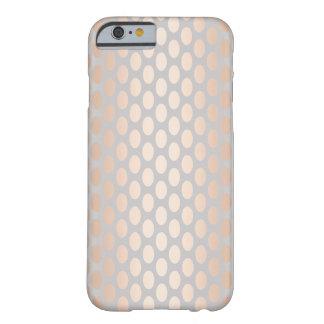 Capa Barely There Para iPhone 6 Cinza cor-de-rosa do teste padrão de bolinhas do