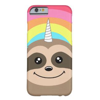 Capa Barely There Para iPhone 6 Cobrir bonito do iPhone do arco-íris de Slothicorn