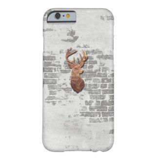 Capa Barely There Para iPhone 6 Cobrir de madeira da decoração dos cervos rústicos