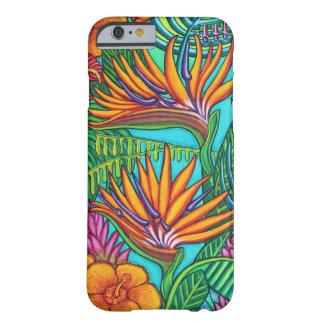 Capa Barely There Para iPhone 6 Cobrir tropical de Iphone das gemas