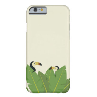 Capa Barely There Para iPhone 6 Cobrir tropical toucan do telemóvel do pássaro da