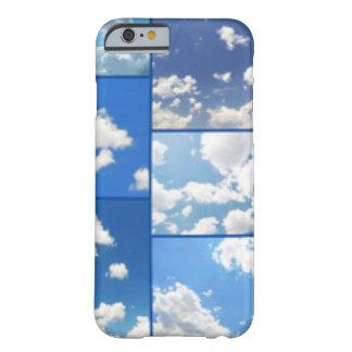 Capa Barely There Para iPhone 6 Colagem dos céus azuis & das nuvens do branco