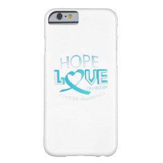 Capa Barely There Para iPhone 6 Consciência do câncer de ovário do apoio do amor