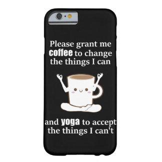 Capa Barely There Para iPhone 6 copo de café bonito que faz a ioga