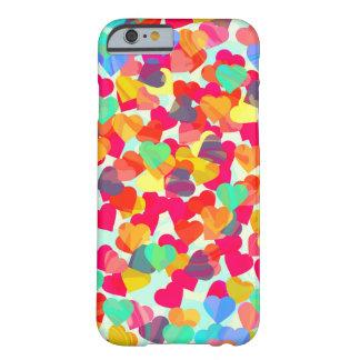 Capa Barely There Para iPhone 6 Corações abstratos para o dia dos namorados