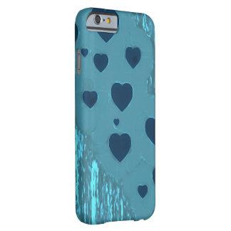 Capa Barely There Para iPhone 6 Corações azuis alternativos
