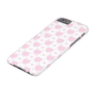 Capa Barely There Para iPhone 6 Corações cor-de-rosa & brancos românticos