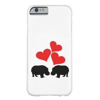 Capa Barely There Para iPhone 6 Corações & hipopótamos