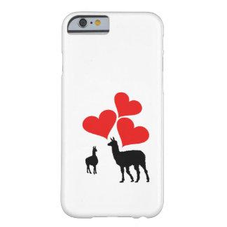 Capa Barely There Para iPhone 6 Corações & lamas